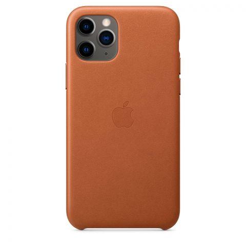 Кожаный чехол для iPhone 11 Pro Leather Case-Saddle Brown