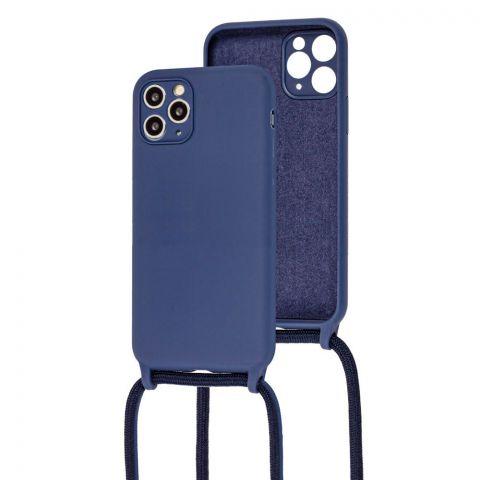 Чехол для iPhone 11 Pro Max Lanyard Ожерелье со шнурком через плечо-Midnight Blue