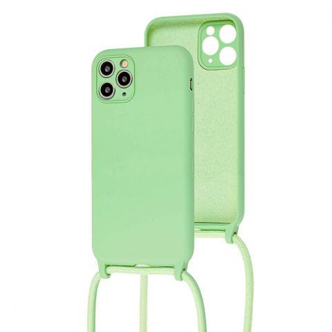 Чехол для iPhone 11 Pro Max Lanyard Ожерелье со шнурком через плечо-Mint