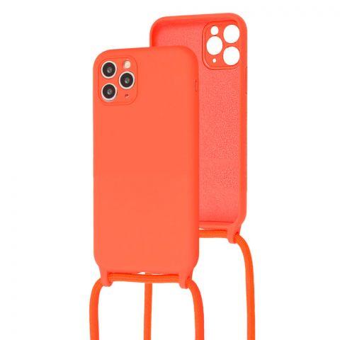Чехол для iPhone 11 Pro Max Lanyard Ожерелье со шнурком через плечо-Orange