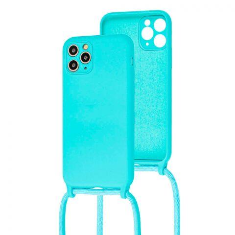 Чехол для iPhone 11 Pro Max Lanyard Ожерелье со шнурком через плечо-Turquoise