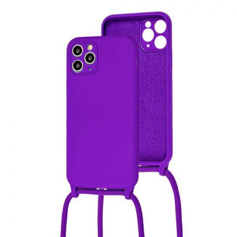 Чехол для iPhone 11 Pro Max Lanyard Ожерелье со шнурком через плечо-Ultra Violet