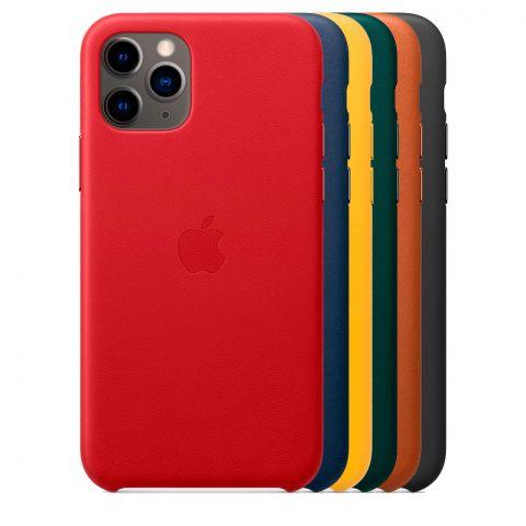 Кожаный чехол для iPhone 11 Pro Max Leather Case