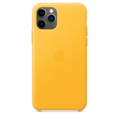 Кожаный чехол для iPhone 11 Pro Max Leather Case-Meyer Lemon
