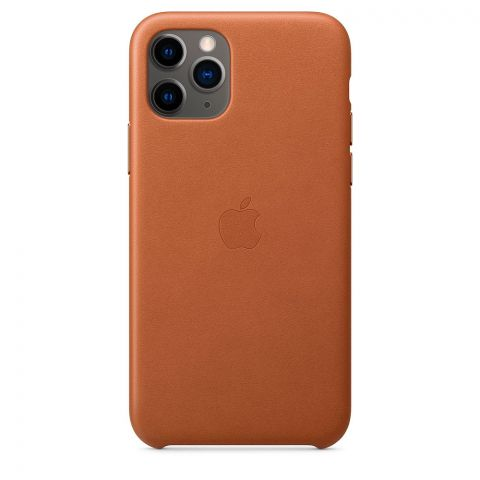 Кожаный чехол для iPhone 11 Pro Max Leather Case-Saddle Brown