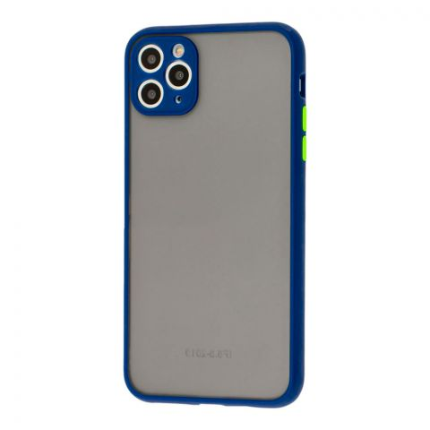 Чехол для iPhone 11 Pro Max LikGus Totu с защитой камеры-Blue