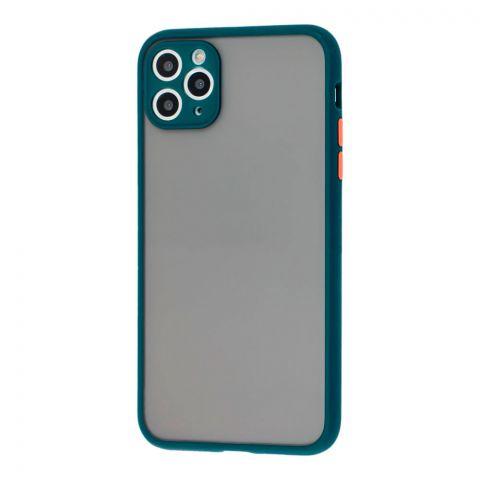 Чехол для iPhone 11 Pro Max LikGus Totu с защитой камеры-Dark Olive