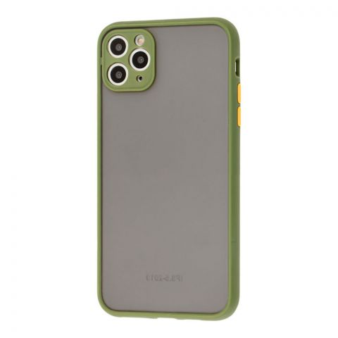 Чехол для iPhone 11 Pro Max LikGus Totu с защитой камеры-Green