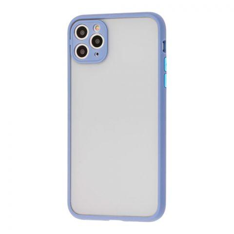 Чехол для iPhone 11 Pro Max LikGus Totu с защитой камеры-Light Blue