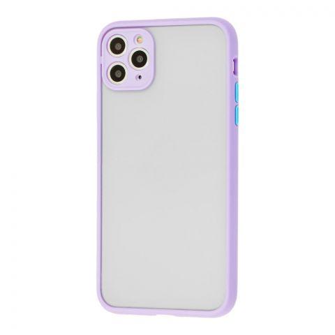 Чехол для iPhone 11 Pro Max LikGus Totu с защитой камеры-Light Violet