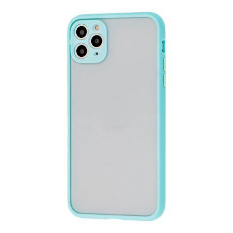 Чехол для iPhone 11 Pro Max LikGus Totu с защитой камеры-Turquoise
