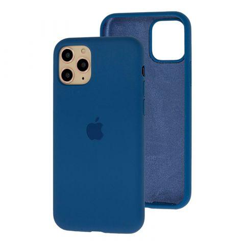 Силиконовый чехол для iPhone 11 Pro Max Silicone Case Full (с закрытой нижней частью)-Alaskan Blue