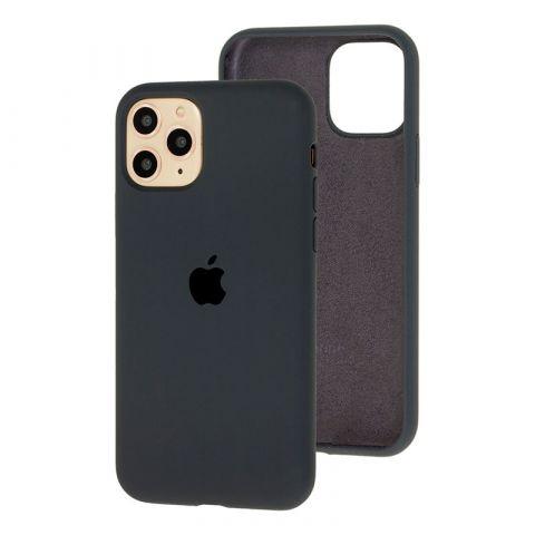 Силиконовый чехол для iPhone 11 Pro Max Silicone Case Full (с закрытой нижней частью)-Charcoal Grey