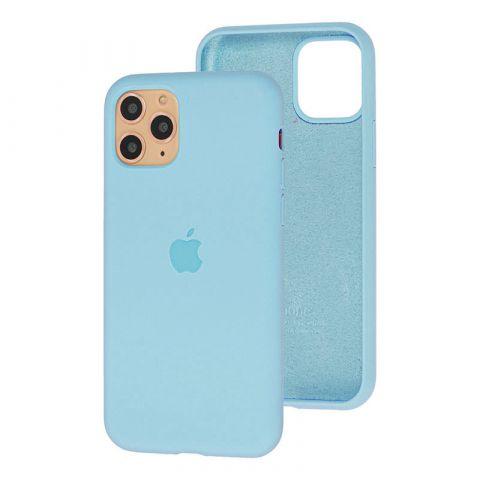 Силиконовый чехол для iPhone 11 Pro Max Silicone Case Full (с закрытой нижней частью)-Lilac Cream
