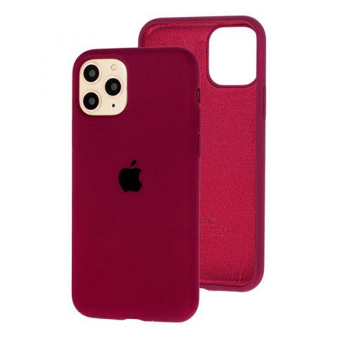 Силиконовый чехол для iPhone 11 Pro Max Silicone Case Full (с закрытой нижней частью)-Marsala