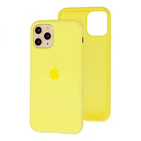Силиконовый чехол для iPhone 11 Pro Max Silicone Case Full (с закрытой нижней частью)-Mellow Yellow