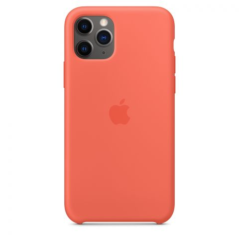 Силиконовый чехол для iPhone 11 Pro Silicone Case-Clementine (Orange)