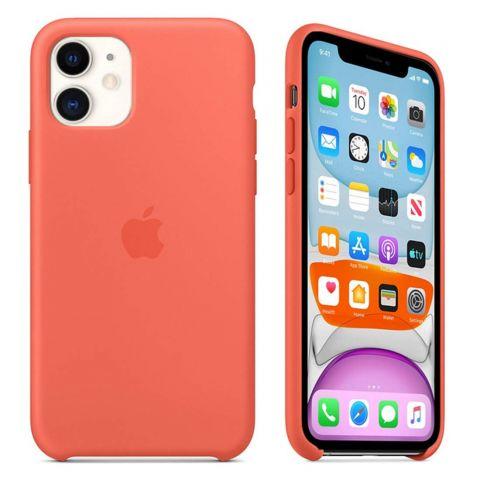 Силиконовый чехол для iPhone 11 Silicone Case-Clementine (Orange)