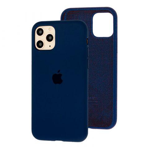 Силиконовый чехол для iPhone 11 Silicone Case Full (с закрытой нижней частью)-Midnight Blue