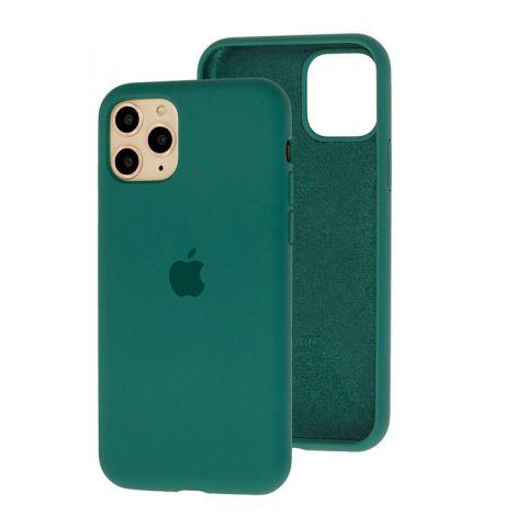 Силиконовый чехол для iPhone 11 Silicone Case Full (с закрытой нижней частью)-Pine Green
