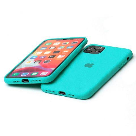 Силиконовый чехол для iPhone 11 Silicone Case Full (с закрытой нижней частью)-Sea Blue