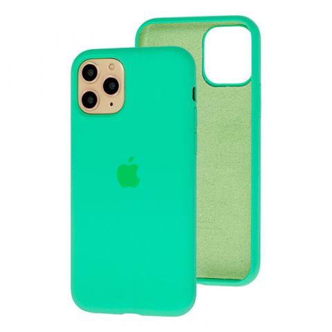 Силиконовый чехол для iPhone 11 Silicone Case Full (с закрытой нижней частью)-Spearmint