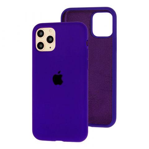 Силиконовый чехол для iPhone 11 Silicone Case Full (с закрытой нижней частью)-Ultra Violet