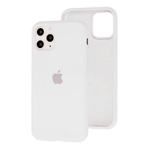 Силиконовый чехол для iPhone 11 Silicone Case Full (с закрытой нижней частью)-White