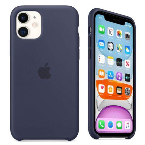 Силиконовый чехол для iPhone 11 Silicone Case-Midnight Blue