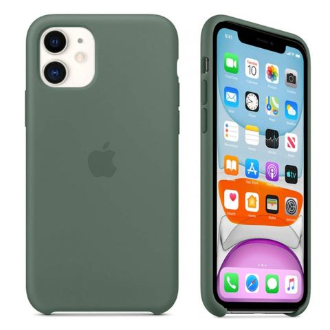 Силиконовый чехол для iPhone 11 Silicone Case-Pine Green