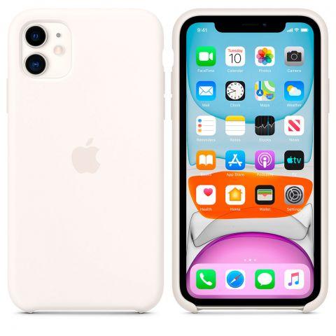 Силиконовый чехол для iPhone 11 Silicone Case-White