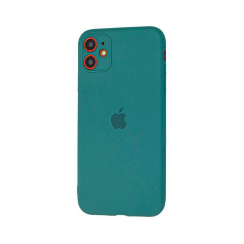 Чехол для iPhone 11 Silicone Slim Full-Pine Green