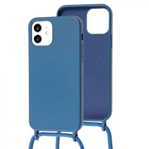 Чехол для iPhone 12 / 12 Pro Lanyard Ожерелье со шнурком через плечо-Blue Cobalt