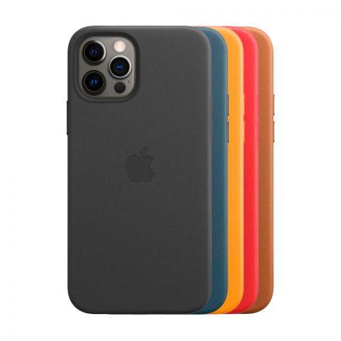 Кожаный чехол для iPhone 12 / 12 Pro Leather Case with MagSafe