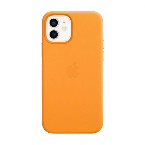 Кожаный чехол для iPhone 12 / 12 Pro Leather Case with MagSafe-California Poppy