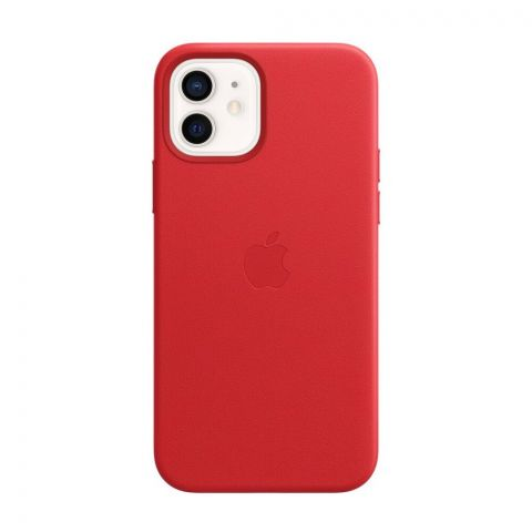 Кожаный чехол для iPhone 12 / 12 Pro Leather Case with MagSafe-(PRODUCT) RED