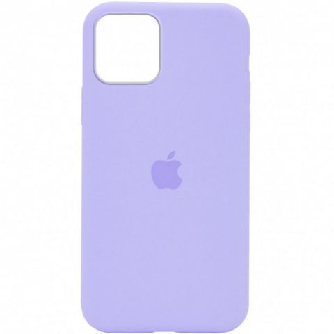 Силиконовый чехол для iPhone 12 / 12 Pro Silicone Case Full (с закрытой нижней частью)-Lilac