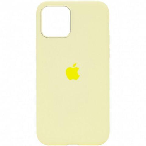 Силиконовый чехол для iPhone 12 / 12 Pro Silicone Case Full (с закрытой нижней частью)-Mellow Yellow