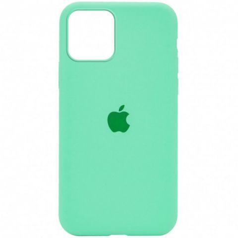 Силиконовый чехол для iPhone 12 / 12 Pro Silicone Case Full (с закрытой нижней частью)-Spearmint