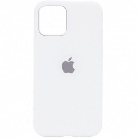 Силиконовый чехол для iPhone 12 / 12 Pro Silicone Case Full (с закрытой нижней частью)-White