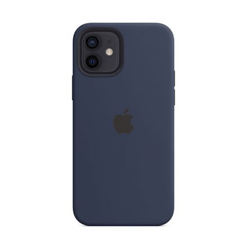 Силиконовый чехол для iPhone 12 / 12 Pro Silicone Case MagSafe-Deep Navy