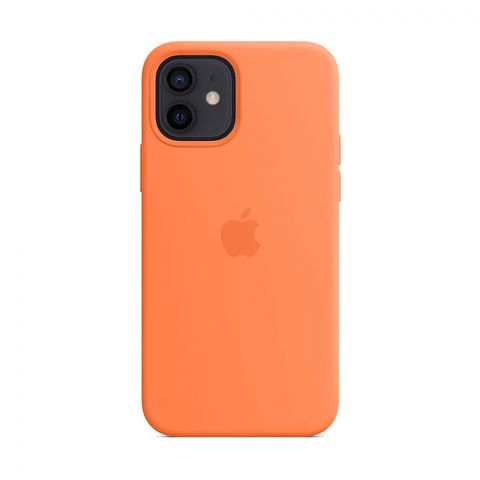 Силиконовый чехол для iPhone 12 / 12 Pro Silicone Case MagSafe-Kumquat