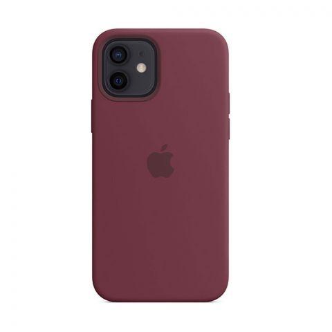Силиконовый чехол для iPhone 12 / 12 Pro Silicone Case MagSafe-Plum