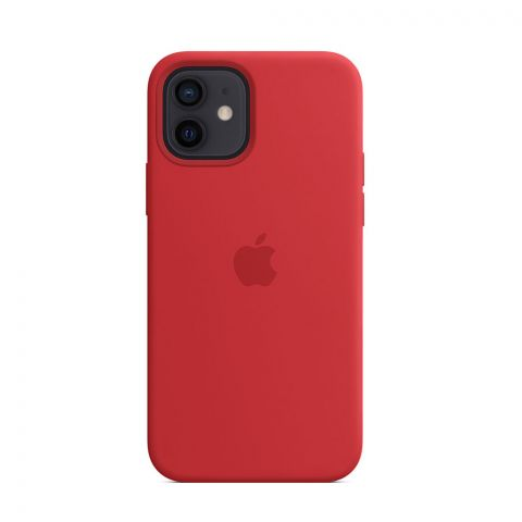 Силиконовый чехол для iPhone 12 / 12 Pro Silicone Case MagSafe-(PRODUCT) RED