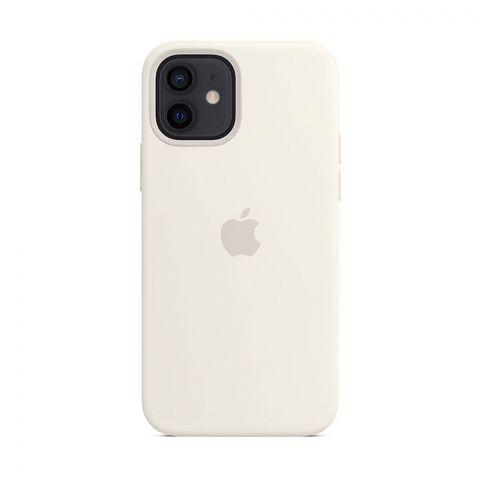 Силиконовый чехол для iPhone 12 / 12 Pro Silicone Case MagSafe-White