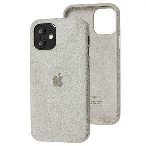 Замшевый чехол для iPhone 12 Mini Alcantara-Stone