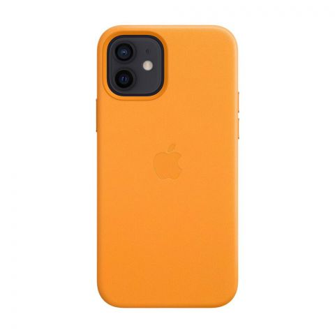 Кожаный чехол для iPhone 12 Mini Leather Case with MagSafe-California Poppy