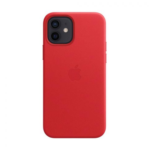 Кожаный чехол для iPhone 12 Mini Leather Case with MagSafe-(PRODUCT) RED