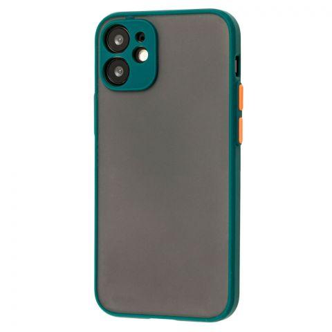 Чехол для iPhone 12 Mini LikGus Totu с защитой камеры-Dark Olive