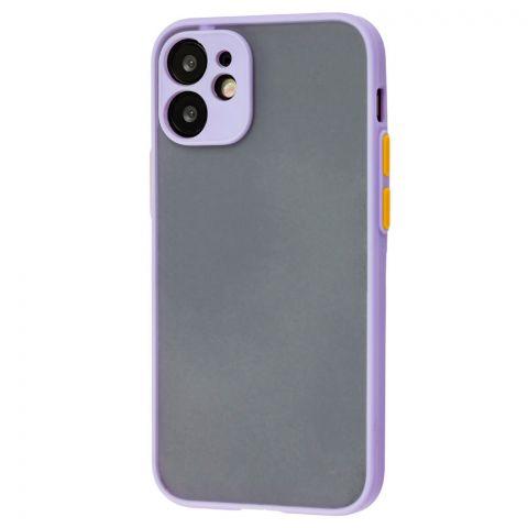 Чехол для iPhone 12 Mini LikGus Totu с защитой камеры-Light Violet